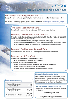 J2Ski Destination kit 2015
