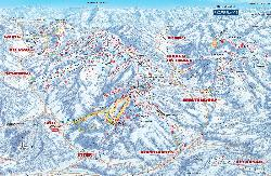 Brixen im Thale Piste Map