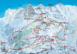 Wengen Piste Map