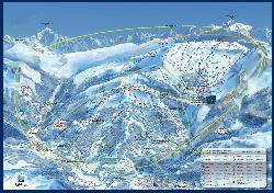 Les Carroz Piste Map