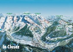 La Clusaz Trail Map
