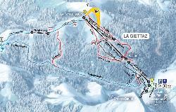La Giettaz en Aravis Piste Map