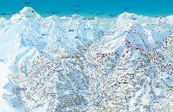 Les Houches Piste Map