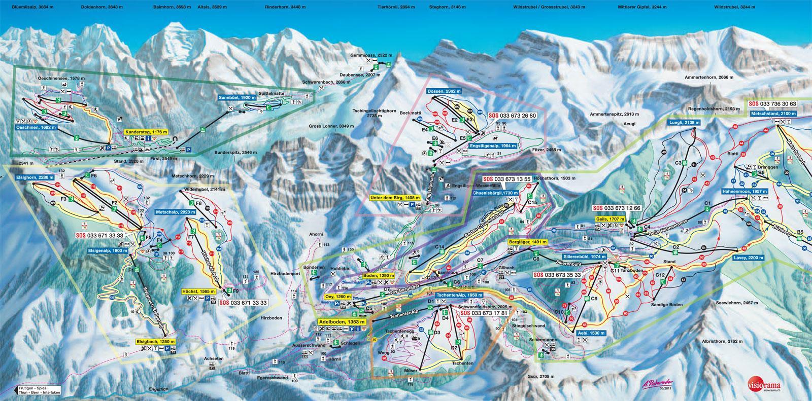 Adelboden Piste Map J2Ski