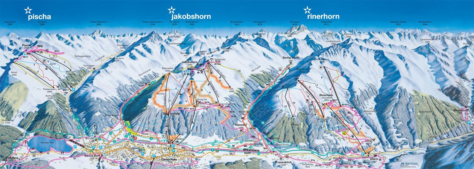 Davos Piste Map | J2Ski