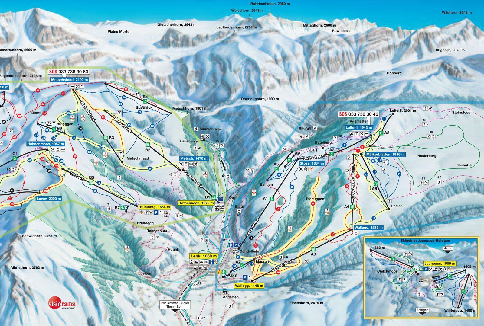 Lenk Piste Map J2Ski