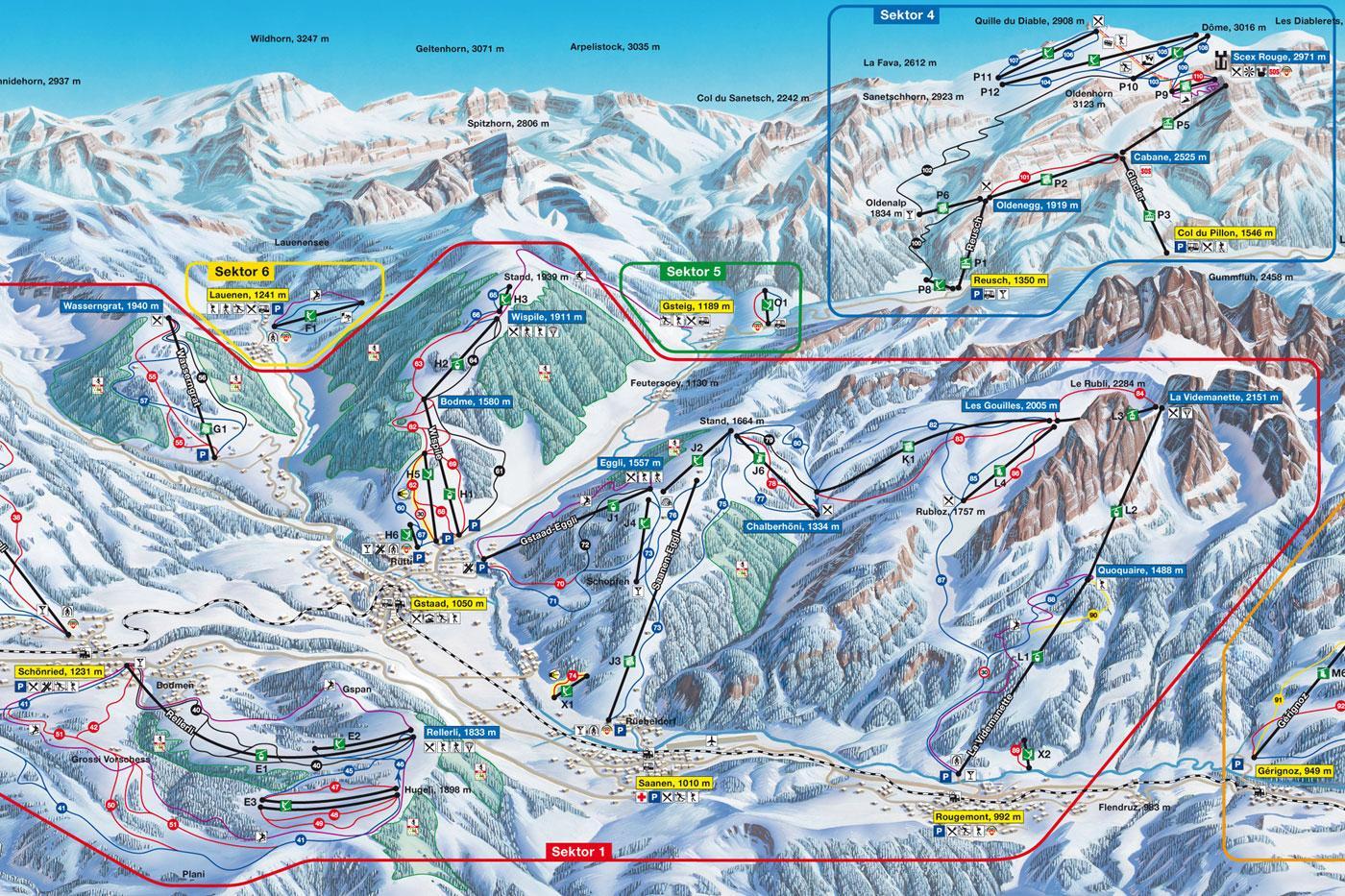Rougemont Piste Map J2Ski