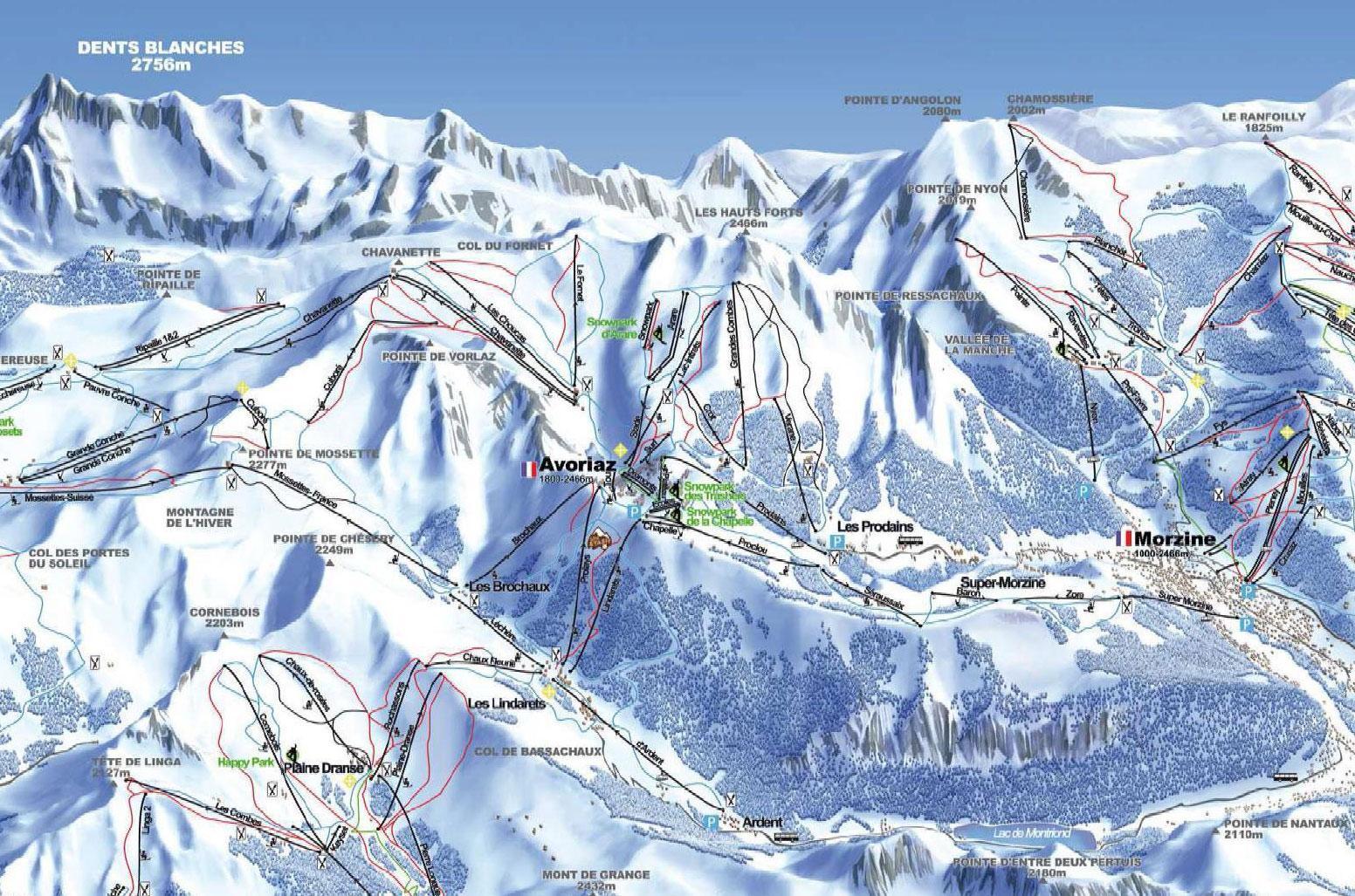 Avoriaz Piste Map J2Ski