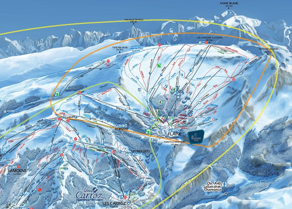 Flaine Piste Map | J2Ski