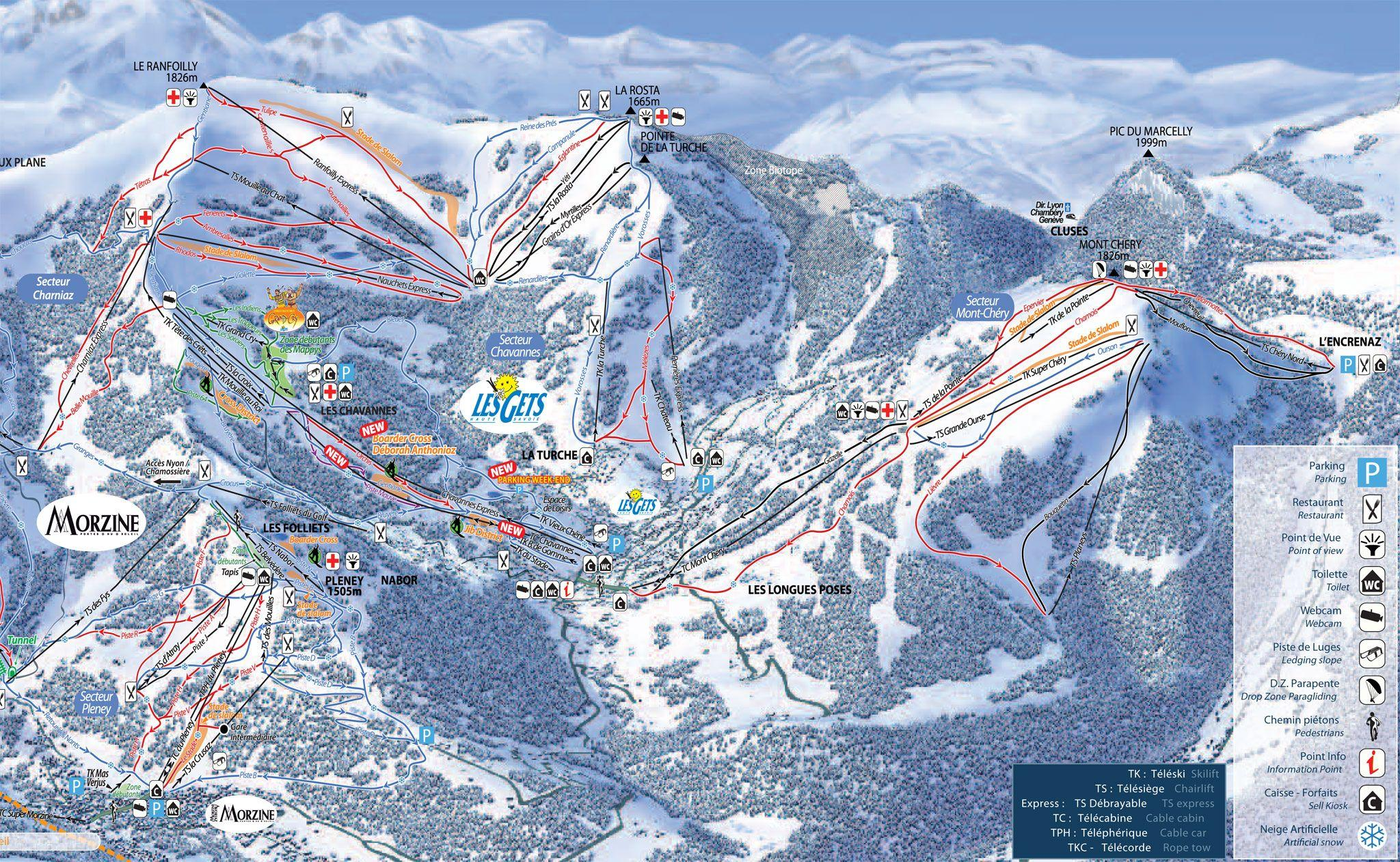 Les Gets Piste Map J2Ski
