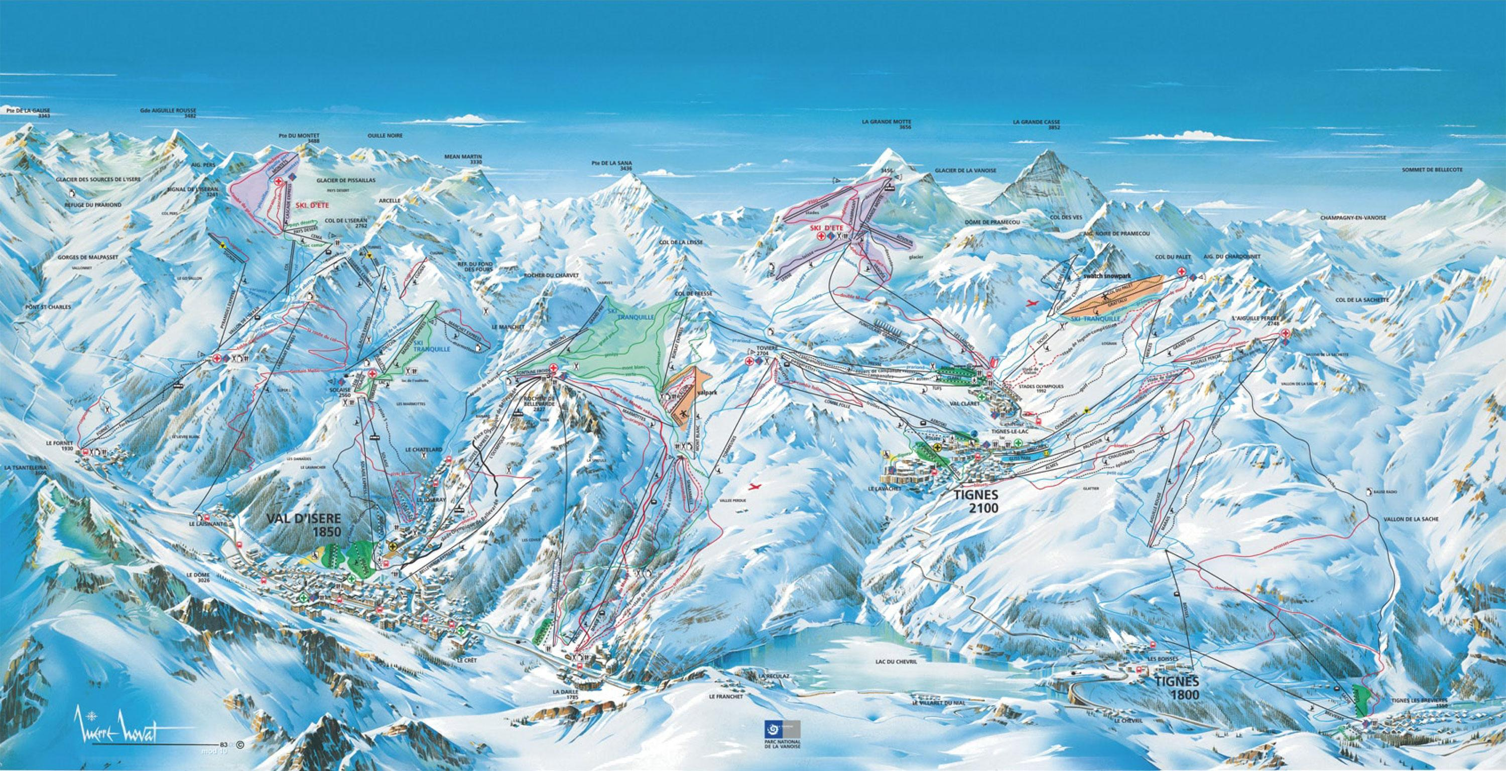 Tignes Ski Map Tignes Piste Map | J2Ski