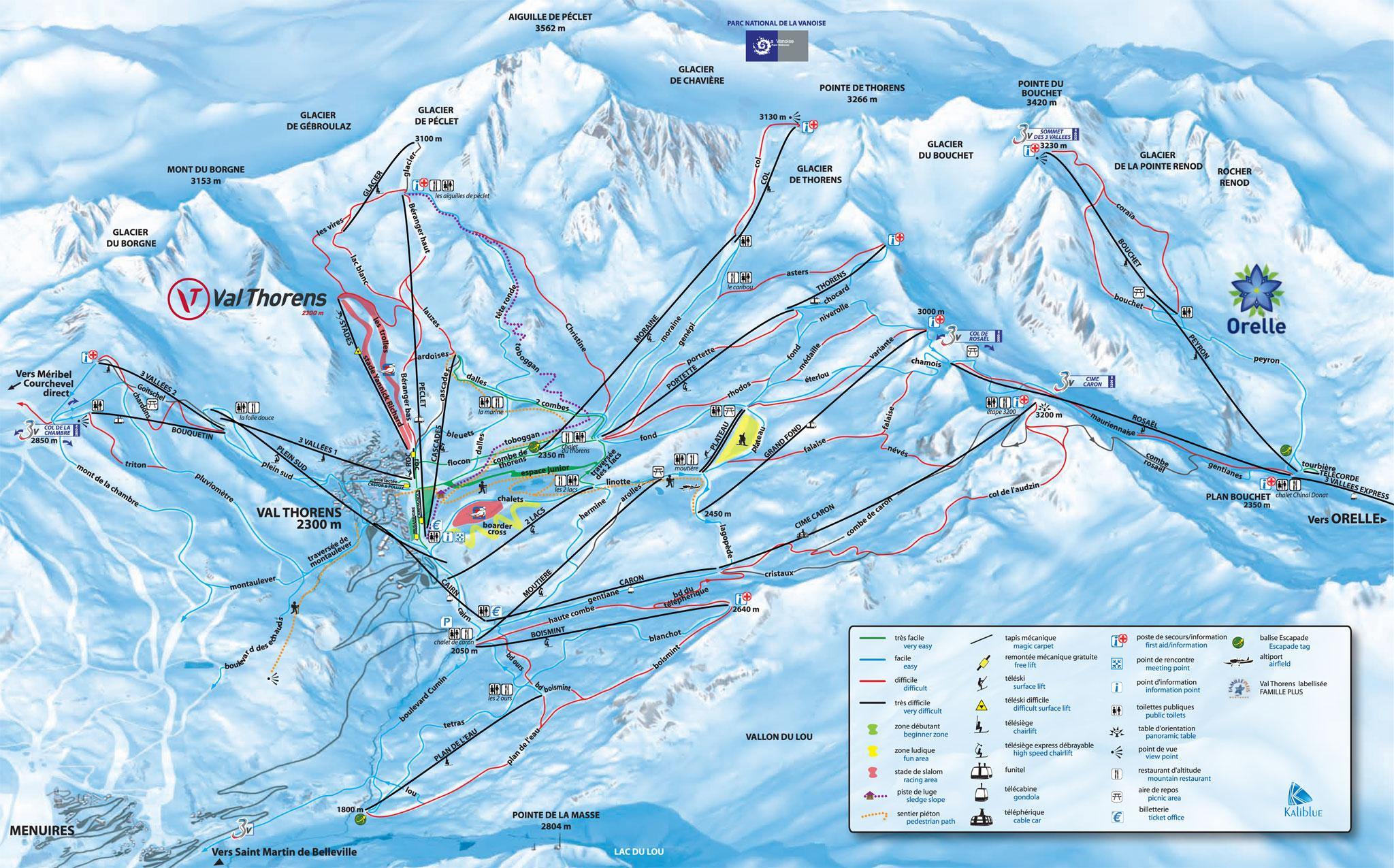 Piste Maps for French Ski Resorts J2Ski