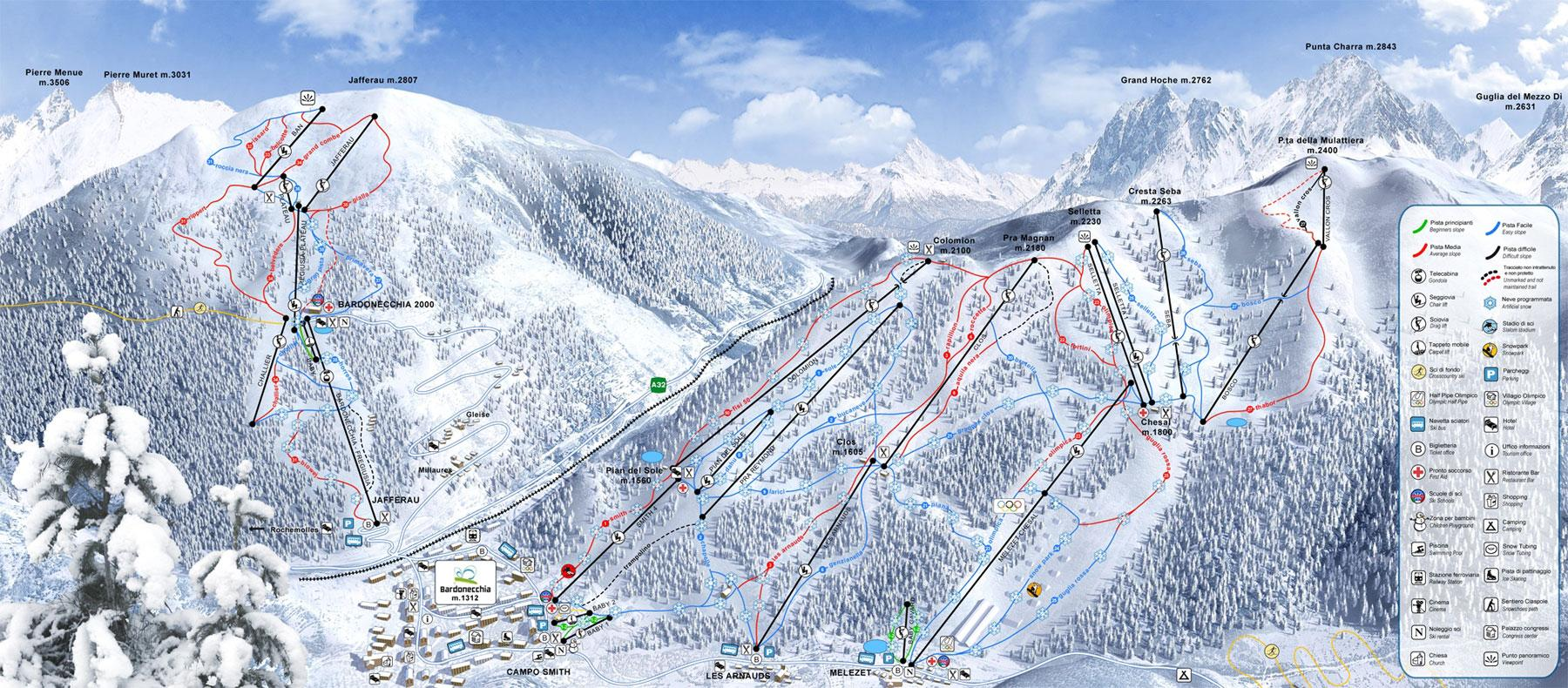 Piste Maps for Italian Ski Resorts J2Ski