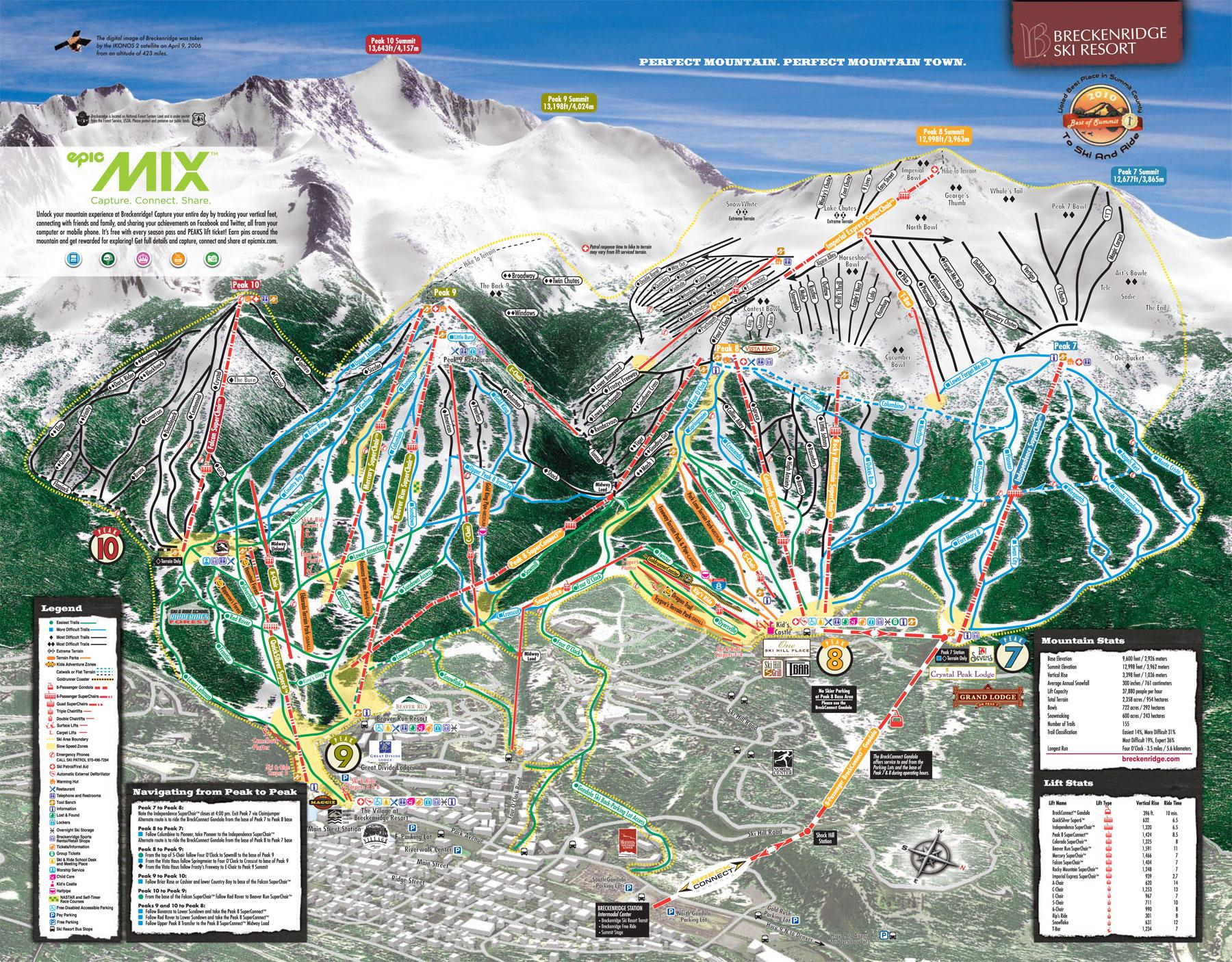 Piste Maps For American Ski Resorts JSki - Us ski resorts map