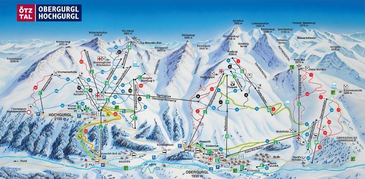 Obergurgl-Hochgurgl Piste Map