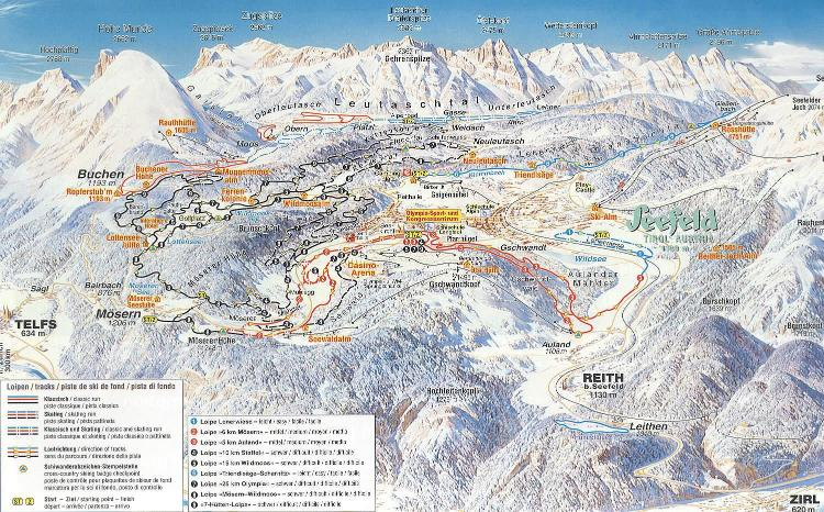 Seefeld Piste Map
