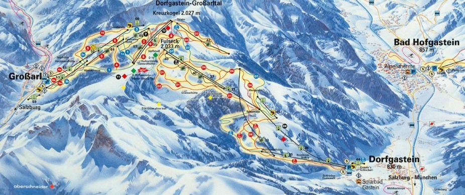 Dorfgastein Piste Map