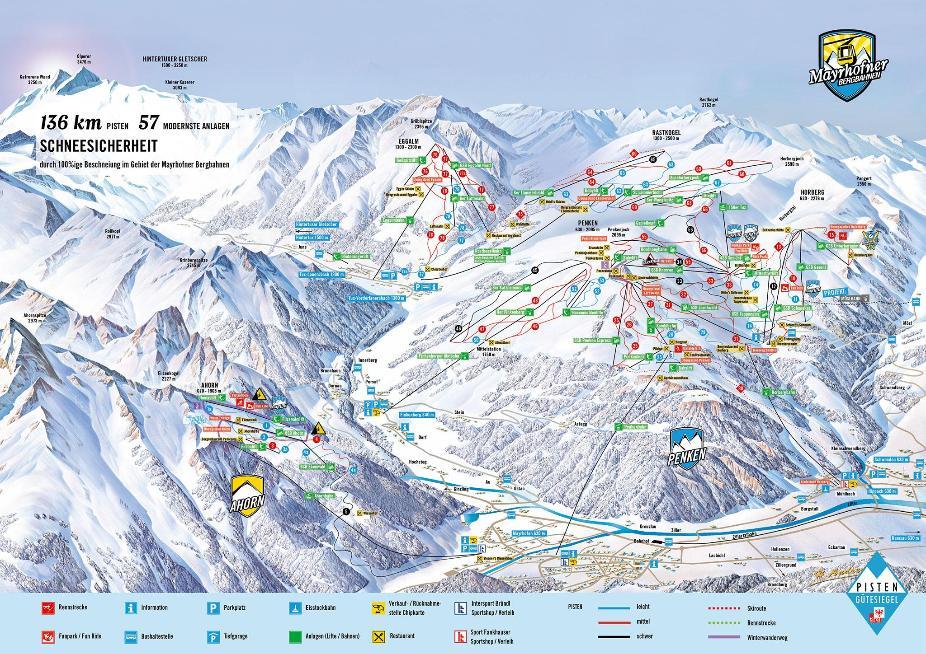 Mayrhofen Piste Map