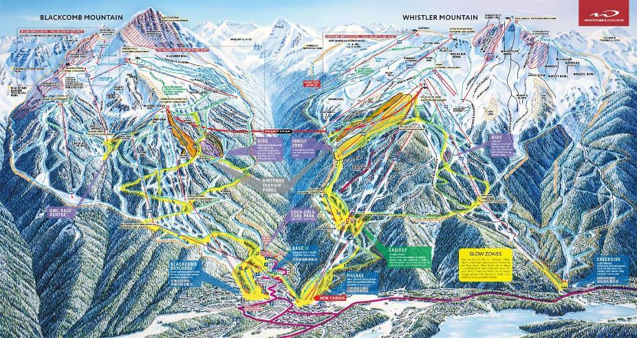 Whistler Blackcomb Piste Map