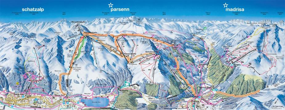 Klosters Piste Map