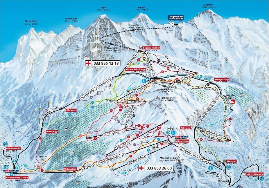 Wengen Trail Map