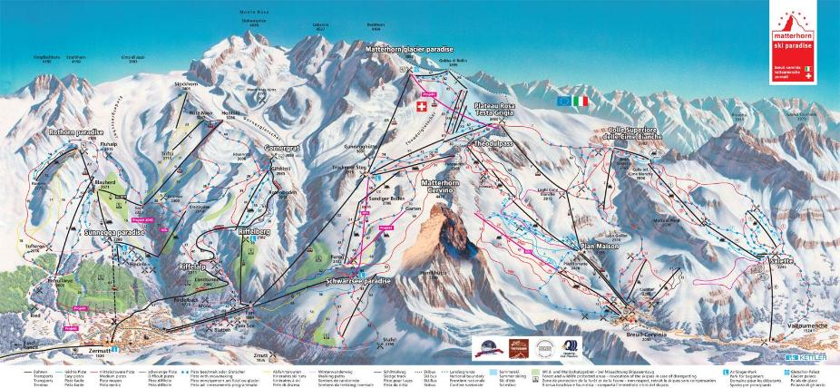 Zermatt Piste Map