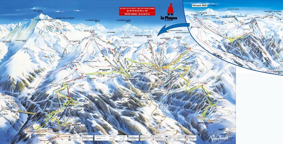 La Plagne Piste Map