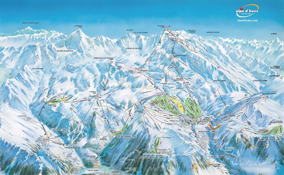 Alpe d'Huez Piste Map