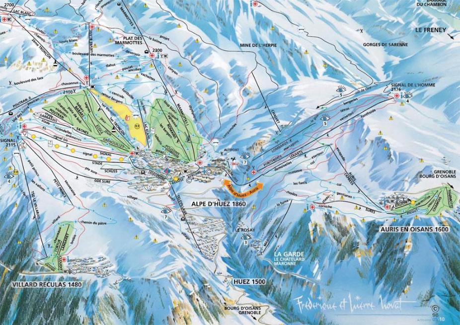 Auris-en-Oisans Piste Map