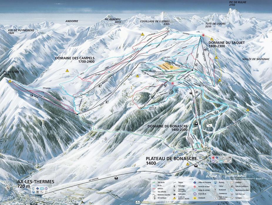 Ax les Thermes Piste Map