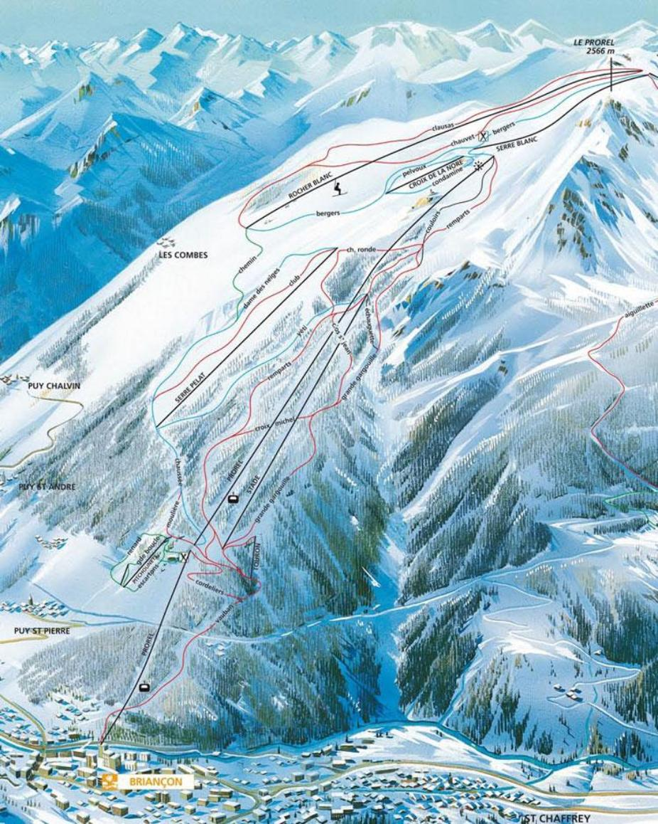 Briançon Piste Map