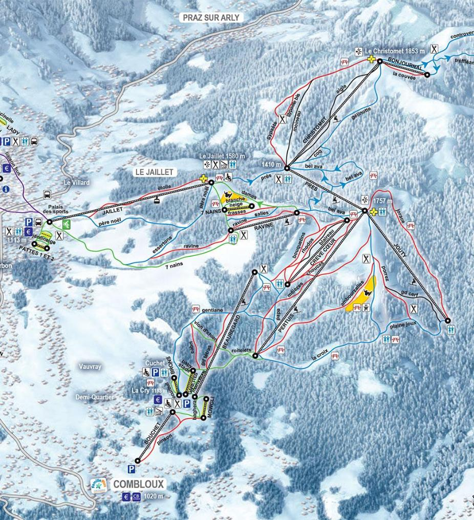 Combloux Piste Map