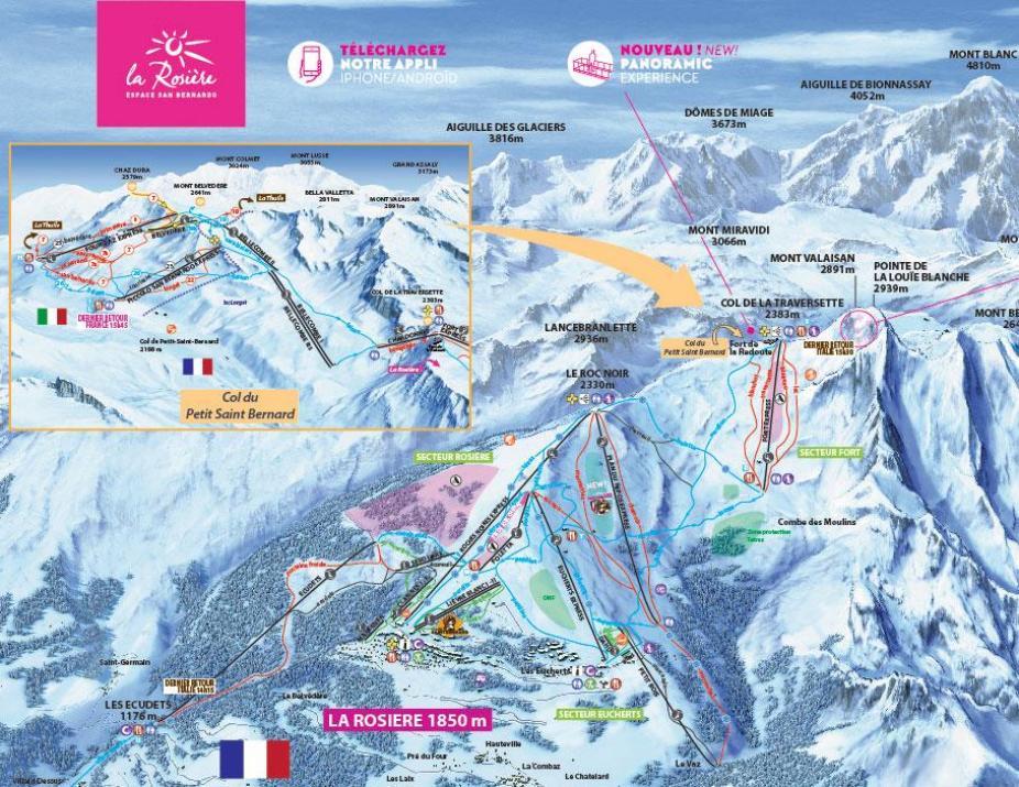 La Rosière Piste Map | J2Ski