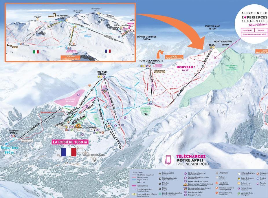 La Rosière Piste Map