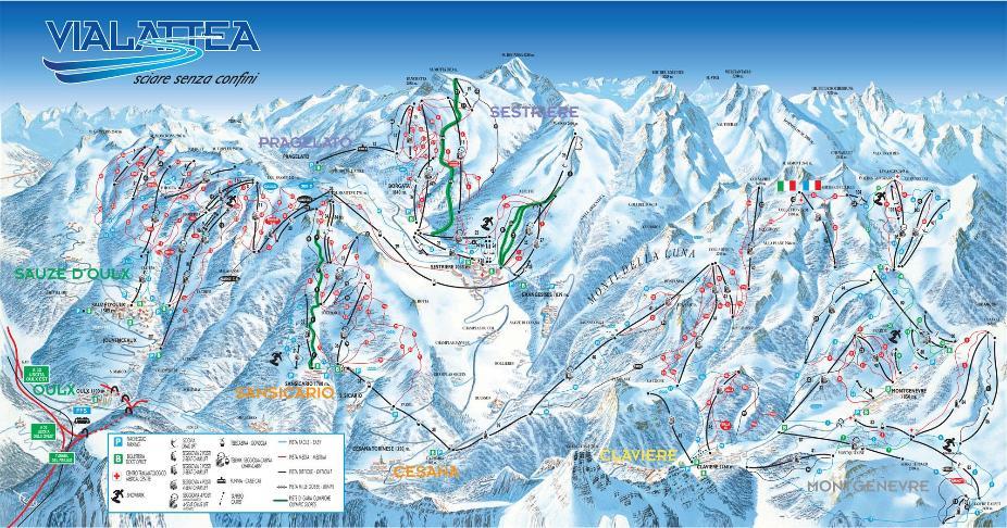 Clavière Piste Map