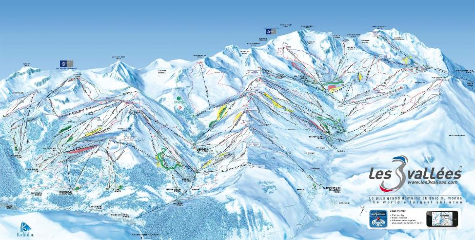 The Three Valleys Piste Map