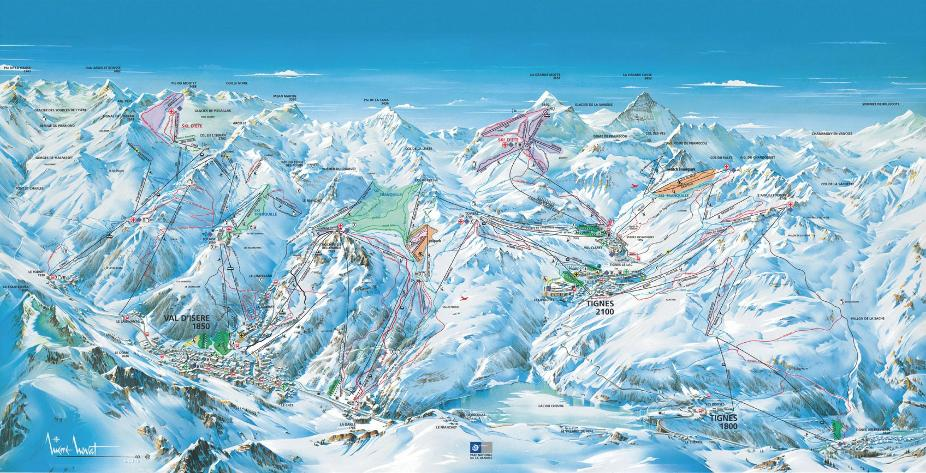 Tignes Le Lac Piste Map