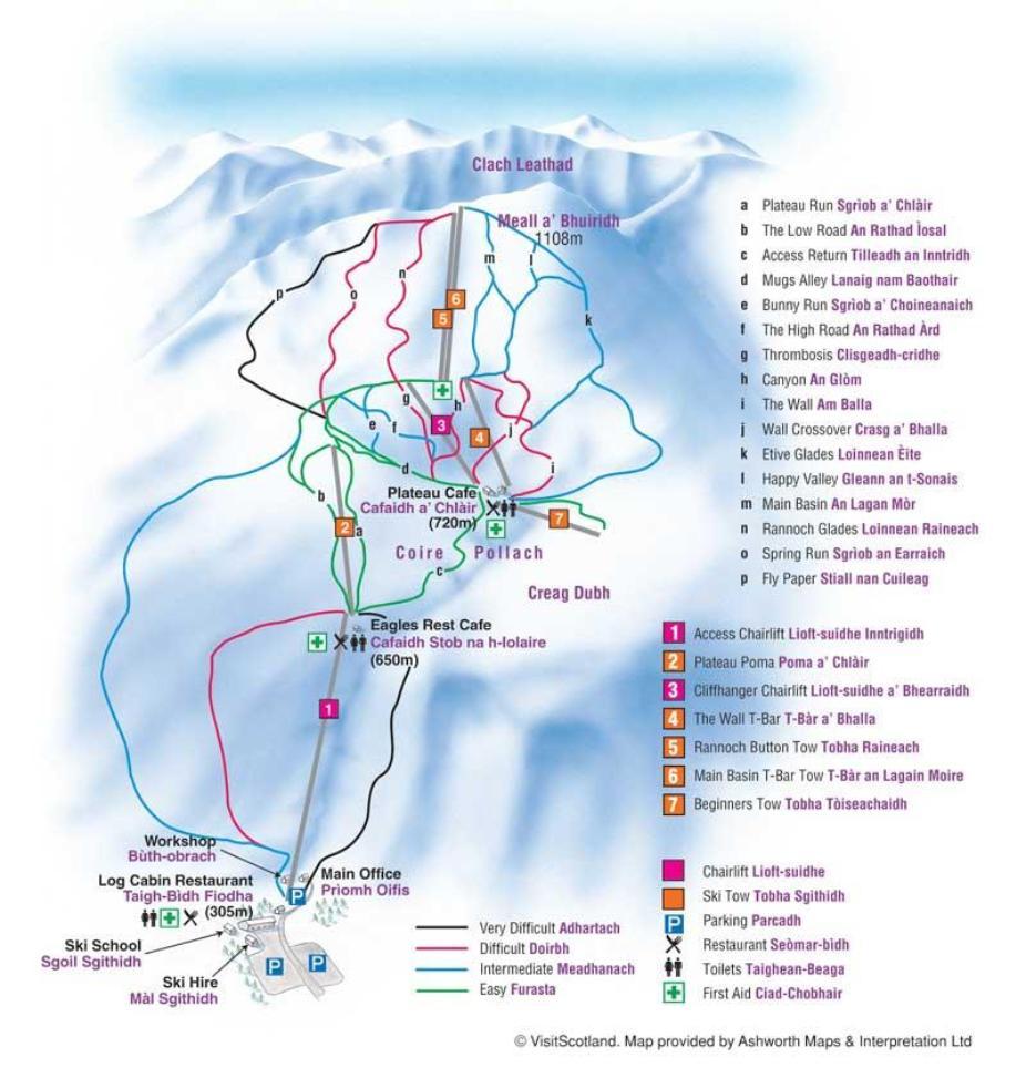 Glencoe Piste Map