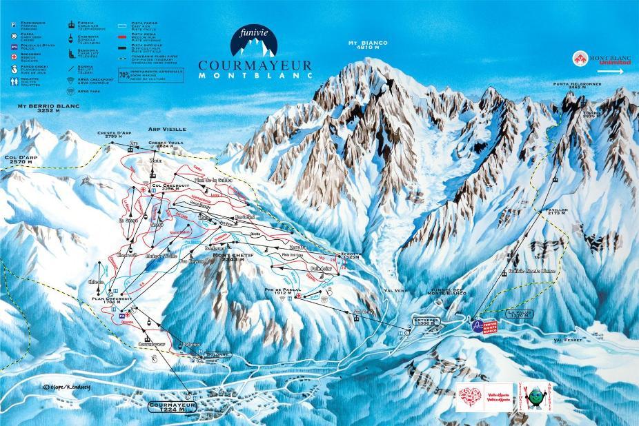 Courmayeur Piste Map