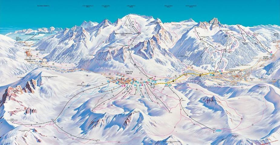 Passo Tonale Piste Map