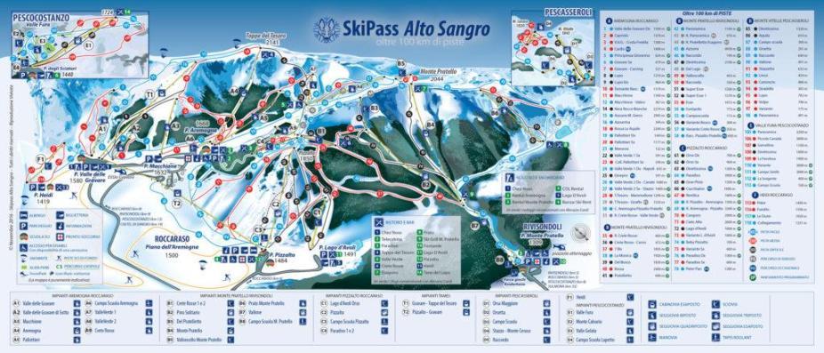 Roccaraso Piste Map