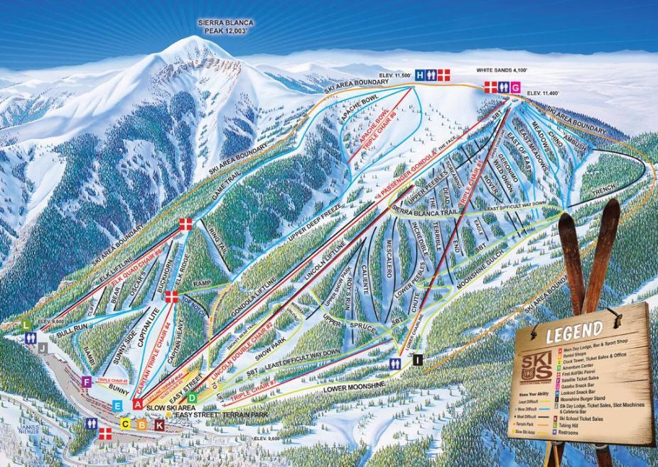 Ski Apache Piste Map
