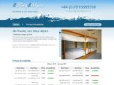 Home page screenshot of Studio - Les Deux Alpes