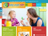 Home page screenshot of Baby-Cham