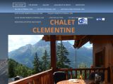 Home page screenshot of Chalet Clementine