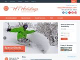 Home page screenshot of HT Holidays