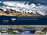 Home page screenshot of Kashmir Travels