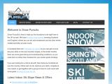 Home page screenshot of Snow Pursuits