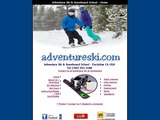 Home page screenshot of Adventure Ski and Snowboard School