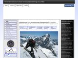 Home page screenshot of International School of Mountaineering